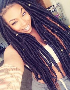 Are You Accessorizing Your Faux Locs? - 15 Faux Locs Styles With Clamp Accessories We Love [Gallery]