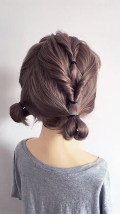 Easy and beautiful braided hair bun on blond long hair. Get inspired with 80+ amazing bridal hairstyle ideas for your wedding day. // #wedding #weddinghairstyles #weddinghair #bridalhair #hairstyles #hair #bridalbeauty #hairstyleideas #braidedhairupdos