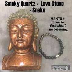 CHANGE: Smoky Quartz • Lava Stone • Snake Yoga Mala Bead Bracelet Smoky Quartz transforms negative emotions and energy patterns – a stone of cooperation.  It is said to help overcome depression, nightmares and stress. .#aura.. #love #yogabracelet #spiritualjewelry #spiritual #jewelry  #bracelet #yoga #fashion #yogabracelets #style #armcandy #bead #beaded #mala #womens #mens #healing #goodluck #lucky #luck #Hope #buddha #manifest #luxury #energy #friendship #crystals #crystals #fertility