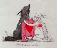 Een glimp van je ziel blog - de kunst van aandacht geven. Image: What to do with all this love? - Chiara Bautista