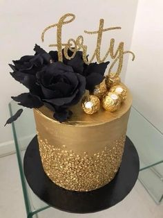 Birthday Cake topper reads: Forty - birthday /Communion/ Christmas cakes n tutorials - Kuchen 40th Birthday Cake For Women, 40th Birthday Cake Topper, 40th Cake, Forty Birthday, 40th Birthday Parties, Birthday Woman, Birthday Ideas For Women, My Birthday, Birthday Cake For Women Elegant