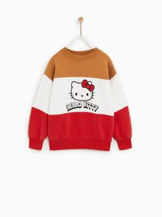 SUDADERA ©HELLO KITTY Hello Kitty Outfit, Hello Kitty Clothes, Casual Outfits, Cute Outfits, Fashion Outfits, Baby Girl Fashion, Kids Fashion, Hello Kitty Rooms, Girl Sweat