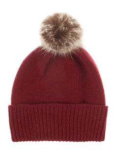 Helen Moore Cashmere hat with faux fur p  EUR 56.00