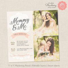 Mommy and Me Mini Session Template Mothers Day by StudioStrawberry