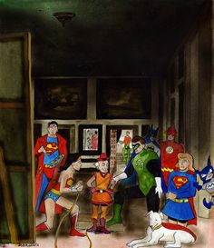 JLA Las Meninas Parody Justice League Funny, Diego Velazquez, Spanish Art, Colonial America, Famous Art, Funny Art, Art History, Art Projects, Contemporary Art