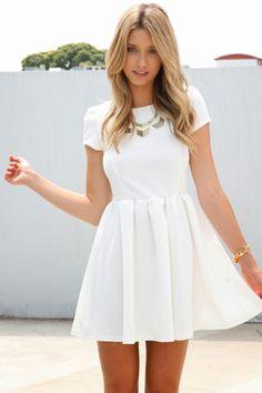 Vestidos Blancos Cortos, Vestidos Blanca, Vestidos   , Vestidos Fashion, Blancos Moda, Vestidos De Fiesta Blancos, Vestido Juvenil De Moda, Vestidos