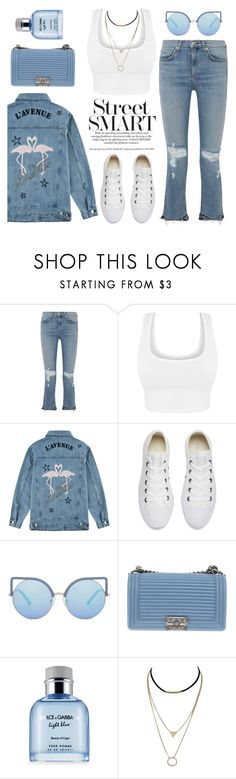 """""""Road Trip Denim"""" by pure-vnom ❤ liked on Polyvore featuring rag & bone, Être Cécile, Converse, Matthew Williamson, Chanel and Dolce&Gabbana"""