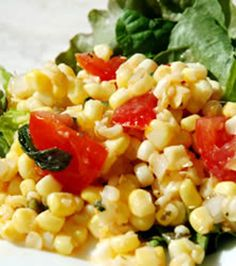 Summer Corn Salad....We Love this Stuff!!!!!!  We usually make a meal of it.  I usually also add diced onion, sliced or chopped ripe olives and sometimes crumbled bacon or diced ham.  A couple times I've also added chopped celery & that's good.  A friend swears by adding diced bell peppers, but we don't like bell peppers, so I've never done that.
