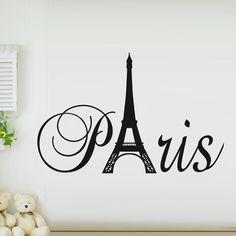 Novo 2015 DIY adesivos de parede Mural Art Decor Art Paris torre Eiffel sala adesivos de parede Applique decoração em Papéis de parede de Casa & jardim no AliExpress.com   Alibaba Group