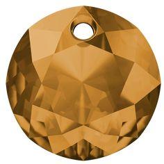 SWAROVSKI® 6430 Classic Cut Pendant (203 Topaz) Topaz, Innovation, Swarovski, Table Lamp, Spring Summer, Pendant, Classic, Home Decor, Derby
