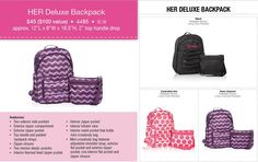HER Deluxe Back Pack- Hostess Exclusive!  It's New in the Fall Catalog starting September 1st 2014.
