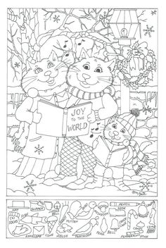 Hidden Pictures Free Printable Object Games For Christmas Puzzle Adults schule Christmas Puzzle, Christmas Games, Christmas Activities, Christmas Printables, Coloring Book Pages, Coloring Pages For Kids, Puzzle Photo, Hidden Pictures Printables, Hidden Picture Puzzles