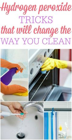 Hydrogen peroxide isn't just for cuts and scrapes! Check out these awesome hydrogen peroxide tricks that will change the way you clean!