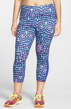 Zella 'Streamline - Live In' Print Capri Pants (Plus Size) available at #Nordstrom