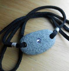 Beach Stone Jewelry Pebble Bracelet / Wrap / by SeaFindDesigns