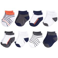Complete your baby's outfit and keep their little toes warm with the Yoga Sprout No-Show Ankle Socks. This convenient pack of 6 comes in a variety of colors and prints. Made of super soft material that is machine washable for easy care. Kids Outfits Girls, Baby Boy Outfits, Baby Boy Fashion, Kids Fashion, Boys Socks, Baby Boy Shoes, Carters Baby Boys, Walmart, Ankle Socks