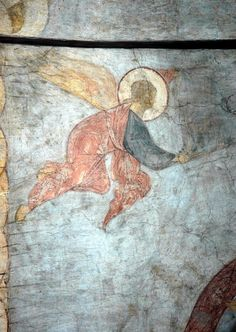 The Last Judgement: Angel, 1408 Andrei Rublev - by style - Byzantine Byzantine Icons, Byzantine Art, Christian Paintings, Christian Art, Religious Paintings, Religious Art, Andrei Rublev, Arte Latina, Islamic Art