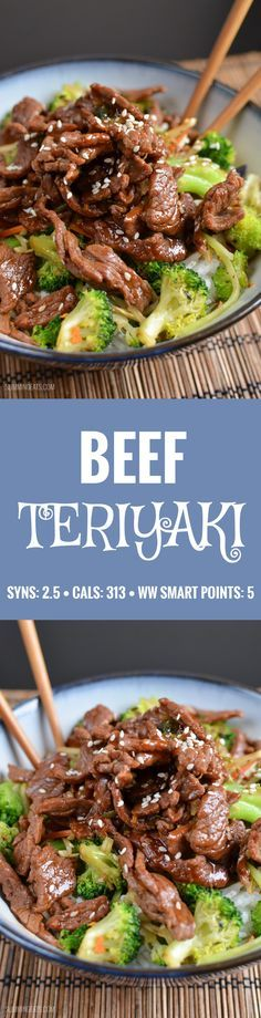 the 4 Cycle Solutions Japanese Diet - Slimming Eats Teriyaki Beef - gluten free, dairy free, Paleo, Slimming World (SP) and Weight Watchers friendly Discover the Worlds First & Only Carb Cycling Diet That INSTANTLY Flips ON Your Bodys Fat-Burning Switch Paleo Recipes, Asian Recipes, Yummy Recipes, Cooking Recipes, Dinner Recipes, Plats Weight Watchers, Weight Watchers Meals, Slimming Eats, Healthy Vegetarian Recipes