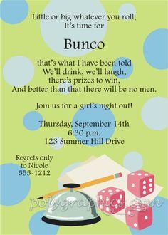 9 Best Invitations Images Invitation Wording Bunco Party Bunco Game