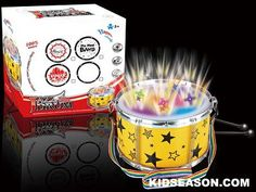 Kidseason Toys, Music Instrument & Karaoke, , VOICE CONTROL LIGHT UP AND MUSICAL JAZZ DRUM TOYS,China