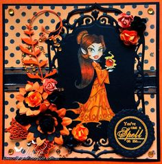 Julie's Craft Haven: KennyK's Krafty Krew Challenge #181 - Orange & Black
