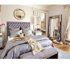 #bedroom #mirror #lavender #silver #headboard #home #homedecor #homedesign #homeideas #ideas #design #decor #designideas #instahome #instadecor #instadesign #instadaily #instagramer #instadesign #ig #igdaily #follow #interiors #interiordesign #interiordecorating #photooftheday #picoftheday... - Interior Design Ideas, Interior Decor and Designs, Home Design Inspiration, Room Design Ideas, Interior Decorating, Furniture And Accessories