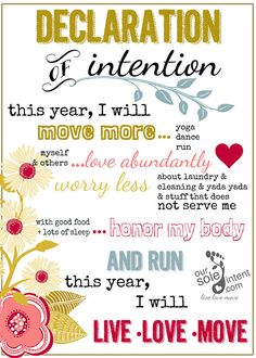Typography print,  inspirational quote print, 5x7, word art - Declaration of Intention