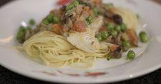 Pasta met zeewolf en groentesaus   Dagelijkse kost