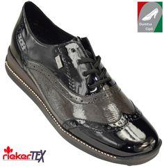 cec2bb42db Rieker női bőr cipő 537L5-80 fehér kombi | Rieker cipő webáruház | Pinterest