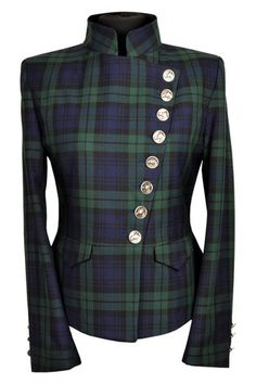 🌟Tante S!fr@ loves this📌🌟Great Scot Lieutenant Jacket Black Watch Tartan Front detail Tartan Fashion, Love Fashion, Fashion Outfits, Womens Fashion, Gothic Fashion, Tartan Dress, Tartan Plaid, Mode Tartan, Celtic Clothing