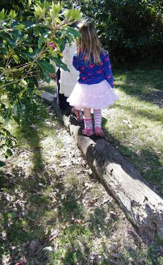 let the children play: Logs in the playscape