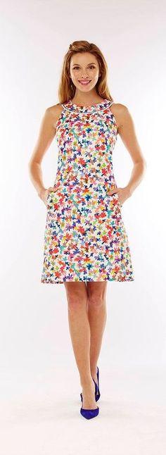 4 Razões para usar vestidos estampados - Perform Tutorial and Ideas Day Dresses, Casual Dresses, Fashion Dresses, Girls Dresses, Summer Dresses, Dress Skirt, Dress Up, Rainbow Outfit, Western Dresses
