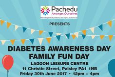 PACHEDU – Pachedu Logo or branding design for a project called 'Pachedu Amongst Ourselves' hosting an event for Diabetes Awareness Family Fun Day.  #graphicdesign #logo #heading #branding #marketing #diabetes #diabetesawarenessday #familyfun #event #Renfrewshire