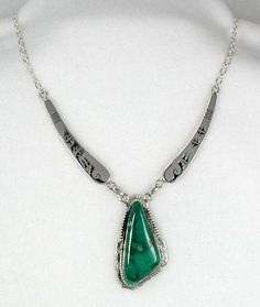 Navajo Sterling Silver  Fox Mountain Turquoise Pendant