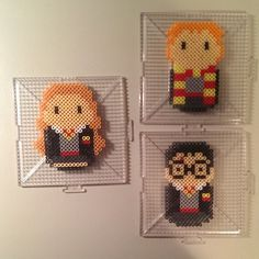 Harry Potter characters hama beads by nostalgiaperler