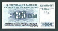 BOSNIA 100 German Mark 1992 UNC ISLAMIC COMMUNITY - RIYASET ,Ovpt. on 25 Dinara. http://cgi.ebay.com/ws/eBayISAPI.dll?ViewItem&item=161196480143