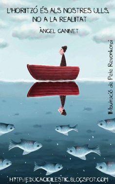 "Reflection sea print by illustration by Pete Revonkorpi - What do you sea. Reflection sea print by illustration by Pete Revonkorpi "" What do you sea. Atelier Theme, Street Art, Buch Design, Fish Art, Children's Book Illustration, Whimsical Art, Under The Sea, Illustrators, Concept Art"
