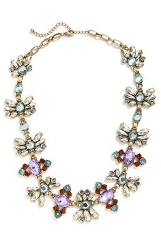 Shiny Happy People Lavender Rhinestone Necklace at Lulus.com!.... on sale and have an additional 20% coupon
