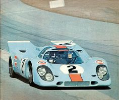 Winning Gulf Porsche 917 at Daytona 1970