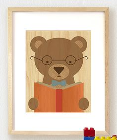 Look what I found on #zulily! Story Bear Large Wood Print #zulilyfinds