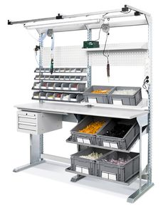 The Conveyor Workbench Sets gathering that is accessible at Detall is remarkable in nature and ready to meet the requests of the clients effectively. Cool Furniture, Furniture Design, Armoires Diy, Workbench Plans Diy, Mobile Workshop, Electronic Workbench, Assembly Table, Warehouse Design, Linen Closet Organization