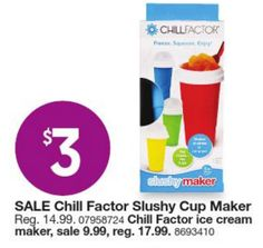 Kmart Black Friday Door Busters: Chill Factor Slushy Cup Maker Only $3