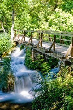 Waterfall in Krka national park in Croatia stock photo © Michał ...