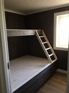 Bilderesultat for plassbygget spisestue Built In Bunkbeds, Cottage Design, House Design, Rustic Bunk Beds, Cabin Loft, Big Design, Shared Rooms, Empty Room, Cottage Homes