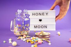 """Sweety"" #earrings #ohrringe #candy #handmade #statementjewelry #statementearrings Passion Project, Meet The Artist, Cute Earrings, Statement Jewelry, Babe, Honey, Moon, Sugar, Treats"