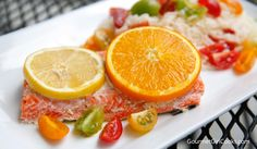 Gourmet Girl Cooks: Oven Roasted Citrus-Butter Wild Copper River Salmon - Easy, Sustainable, Low Carb