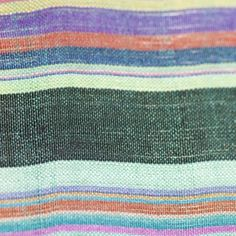 Natural Silk Handwoven, Green Multicolor Stripes