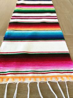 Mexican Serape table runner Southwestern decor tribal party