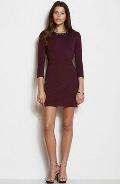 Stud Neck Ponte Dress - Dresses - Womens - Armani Exchange