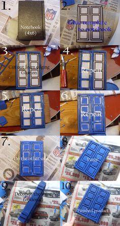 Tutorial: TARDIS journal by ~katien22 on deviantART                                                                               Más